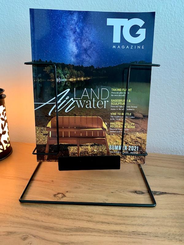 magazine rack countertop tg magazine